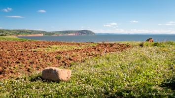 Minas Basin with Blomidin Provincial Park in the distance