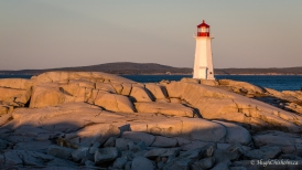 The famous lighthouse bathed in early morning sun